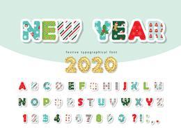 Carattere del nuovo anno 2020
