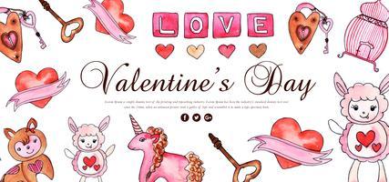 Banner di San Valentino carino vettore