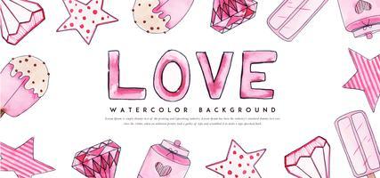 Banner di San Valentino amore vettore