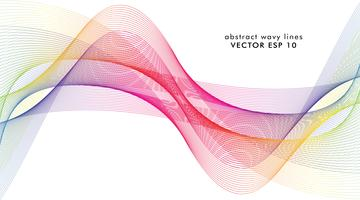 Estratto delle linee colorate dell'onda