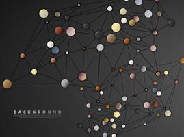 Cerchio di collegamento astratto e linee vettore