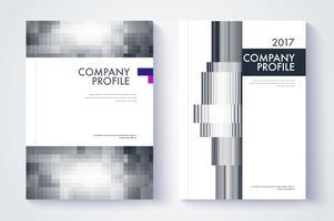 Progetto di copertina della relazione annuale dell'azienda vettore