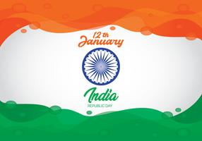 Colore astratto dell'onda della bandiera di festa dell'indipendenza dell'India