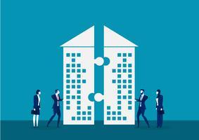 La società di spinta dell'uomo d'affari per investe insieme
