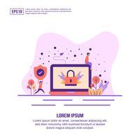 landing page di sicurezza web vettore
