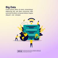 Concetto di illustrazione di grandi quantità di dati vettore