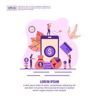 Pagina web di internet banking online vettore