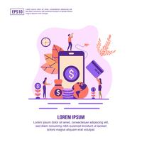 Pagina web di internet banking online
