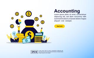 Modello di pagina Web di contabilità