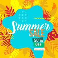 banner del sito Web di vendita di estate