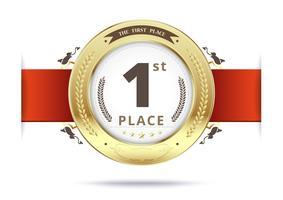 Medaglia d'oro per il primo posto vettore