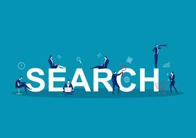Uomini d'affari alla ricerca intorno alla parola RICERCA