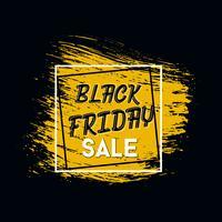 Iscrizione di Black Friday sulle macchie di inchiostro astratte da vendere