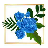 Illustrazione floreale della natura della foglia di vettore del fiore