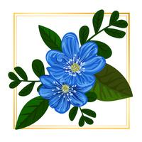 Vettore blu floreale