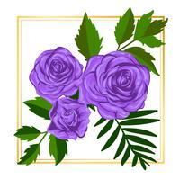 Elementi floreali porpora dell'illustrazione della natura della foglia di vettore del fiore