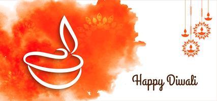 Artistico disegno Diwali felice vettore