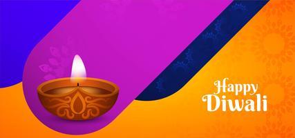 Felice Diwali moderno design colorato vettore
