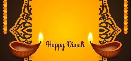 Felice Diwali festival indiano design vettore