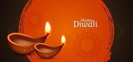 Felice design elegante Diwali vettore