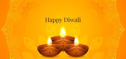 Felice Diwali brillante festival design vettore