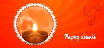 Felice disegno rosso Diwali