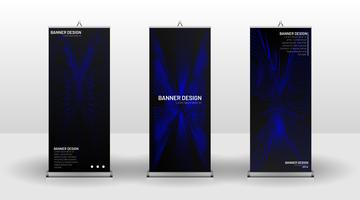 Design modello banner verticale vettore