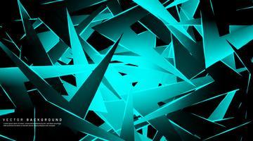 Design a triangolo impilato azzurro vettore