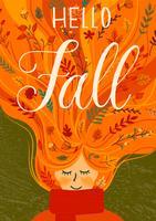 Ciao autunno ragazza