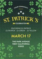 Invito per poster e volantini per la festa di San Patrizio