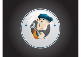 Logo idraulico vettore