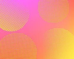Gradiente astratto rosa con punti mezzatinta