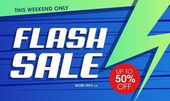 Sfondo vibrante con vendita flash moderna