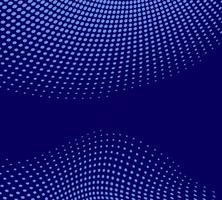 Fondo blu di vettore astratto blu con i punti di semitono