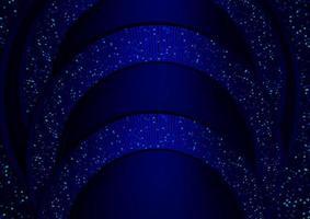 blu scuro sfondo astratto realistico carta a strati decorazione strutturato con argento vettore