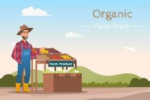 Mercato locale Vendita di frutta e verdura vettore