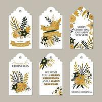 Etichette di buon Natale e felice anno nuovo