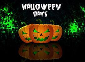 Zucca di Halloween Days vettore