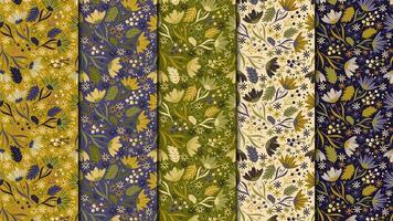 Seamless pattern di fiori vintage vettore