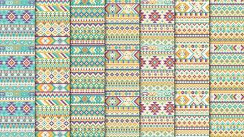 Modello etnico azteco senza soluzione di continuità vettore