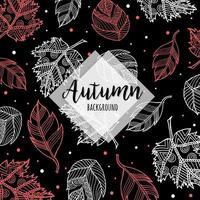 Bello fondo variopinto disegnato a mano delle foglie di autunno