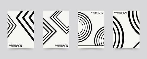 Insieme di modelli di copertina dell'opuscolo di forme geometriche