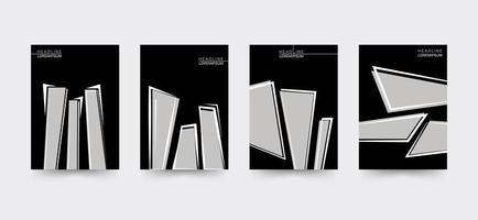 Set di modelli di copertina per brochure taglienti vettore