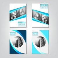 Set di modelli di brochure immobiliari vettore