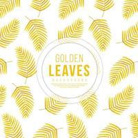 Sfondo di foglie d'oro