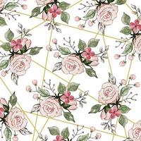 Sfondo floreale acquerello rosa