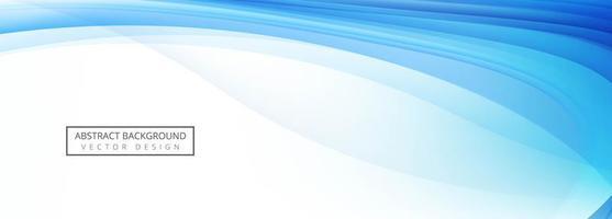 disegno dell'onda blu vettore