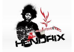 Grafica Jimi Hendrix vettore