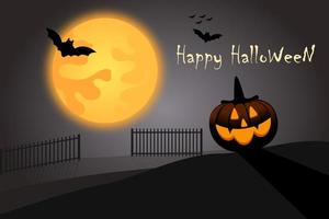 Felice Halloween sfondo vettoriale