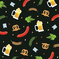 Pattern di sfondo dell'Oktoberfest vettore